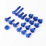 _Kit Tornillería de Aluminio para Plásticos Zeta Kawasaki KX 250 F 13-16 KX 450 F 12-15 Azul | ZE88-5246 | Greenland MX_
