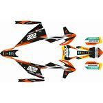 _Kit Adhesivos Completo KTM EXC/EXC-F 20 Réplica Cairoli | SK-KTEXC20RCA-P | Greenland MX_