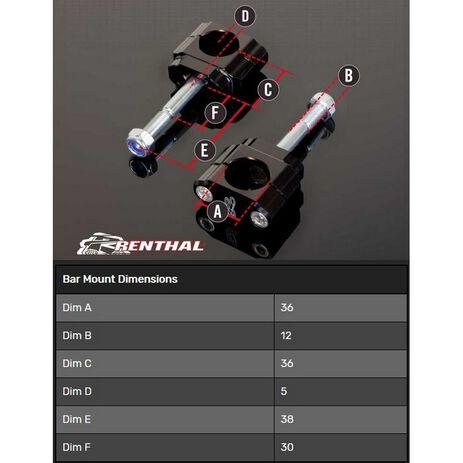 _Torretas Manillar Renthal 36 mm Yamaha YZ/WR 10-13 F YZ 17-20 Kawasaki KX 09-17 F   CL059   Greenland MX_