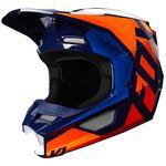 _Casco Fox V1 Prix Naranja/Azul | 25471-592 | Greenland MX_