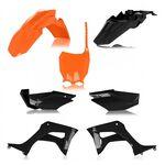 _Full Kit Plásticos Acerbis Honda CRF 110 F 19-21 Negro/Naranja | 0024606.209-P | Greenland MX_