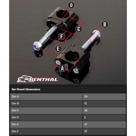 _Torretas Manillar Renthal 36 mm Off Set 5 mm Hon. CR/CRF 00-20 Yam. YZ 14-20 F Kaw. KX 17-20 F   CL051   Greenland MX_