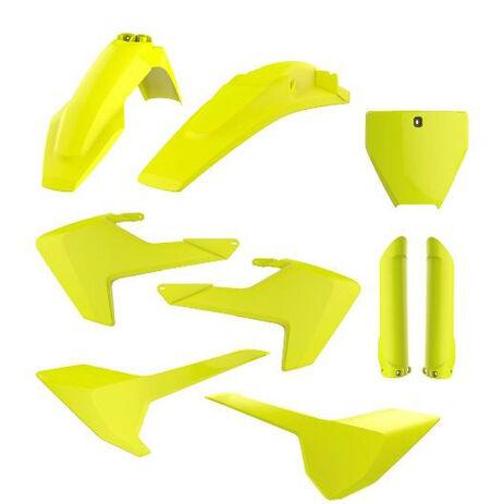_Full Kit Plásticos Polisport Husqvarna TC/FC 16-18 Am. Fluor | 90741 | Greenland MX_