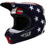 _Casco Fox V1 Ultra Blanco/Rojo/Azul | 26573-574 | Greenland MX_