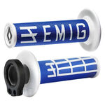 _Puños ODI MX Lock On V2 Emig 2/4 T Azul/Blanco | H36EMUW | Greenland MX_