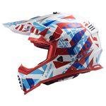 _Casco LS2 Fast EVO MX437 Funky Rojo/Blanco | 404373302-P | Greenland MX_