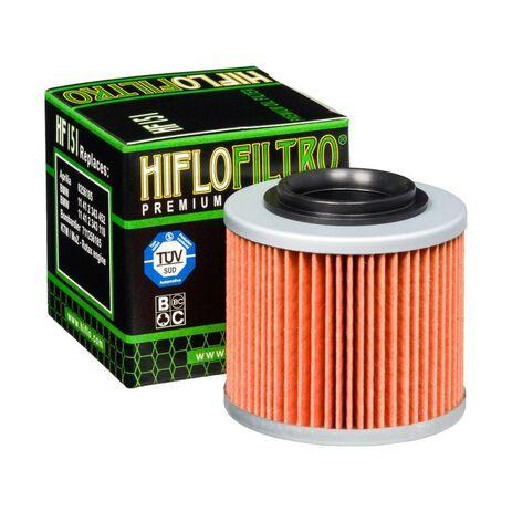 _Filtro de Aceite Hiflofiltro BMW G650 GS 09-16 G650 X 07-08 Aprilia Pegaso 650   HF151   Greenland MX_