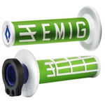 _Puños ODI MX Lock On V2 Emig 2T Verde/Blanco | H32EMNW | Greenland MX_