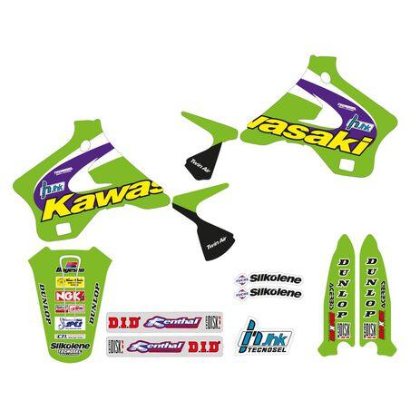 _Kit Adhesivos Tecnosel Replica Team Kawasaki 1998 KX 125/250 94-98 | 24V02 | Greenland MX_