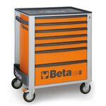 _Cajonera Móvil con 7 Cajones Beta Tools Naranja | C24S-7-O-P | Greenland MX_