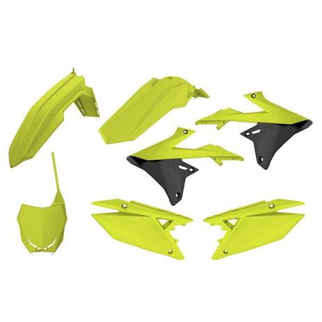 _Kit Plásticos Polisport Suzuki RMZ 250 19 RMZ 450 18-19 Amarillo Flúor | 90783 | Greenland MX_