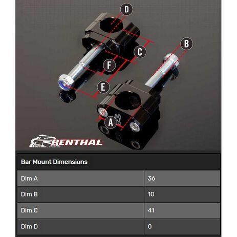 _Torretas Manillar Renthal 36 mm KTM SX-F 12-15 EXC/XC 12-20 Husqvarna FE 2020 TE 18-20 | CL061 | Greenland MX_