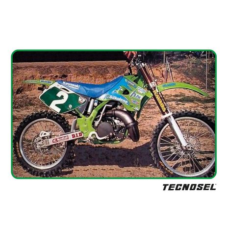 _Funda de Asiento Tecnosel Replica Team Kawasaki 1996 KX 125/250 94-98 | 14V01 | Greenland MX_
