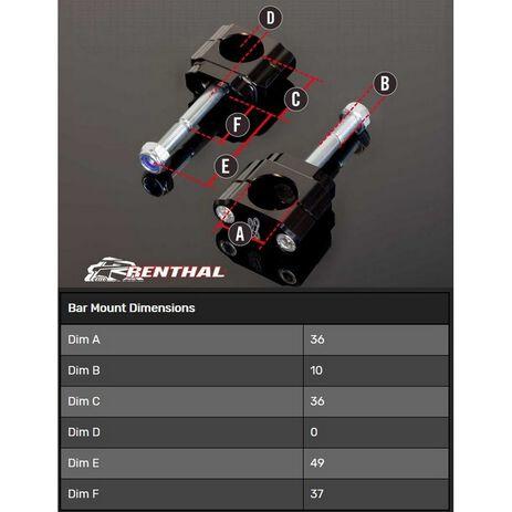 _Torretas Manillar Renthal 36 mm Suzuki RMZ 08-19   CL053   Greenland MX_