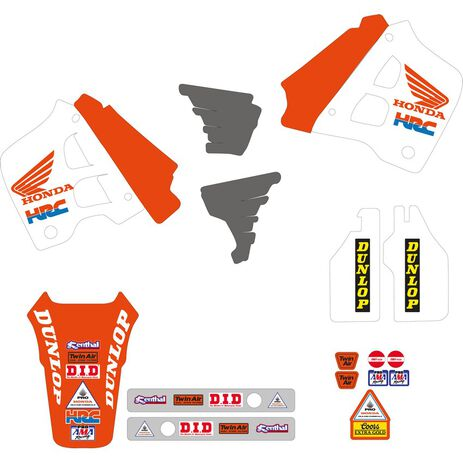 _Kit Adhesivos + Funda de Asiento Tecnosel Replica Team Honda 1991 USA CR 125 91-92 250 90-91 | 81V01 | Greenland MX_