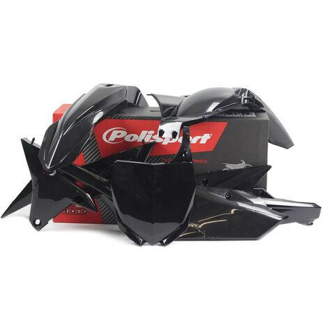 _Kit Plásticos Polisport Yamaha YZ 250 F 14-18 YZ 450 F 14-17 Negro | 90583 | Greenland MX_