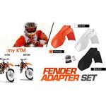 _Kit Adaptador Guardabarros Delantero KTM EXC 08-13 SX 07-12 a 2014 negro | KT-AGD-KTMB | Greenland MX_