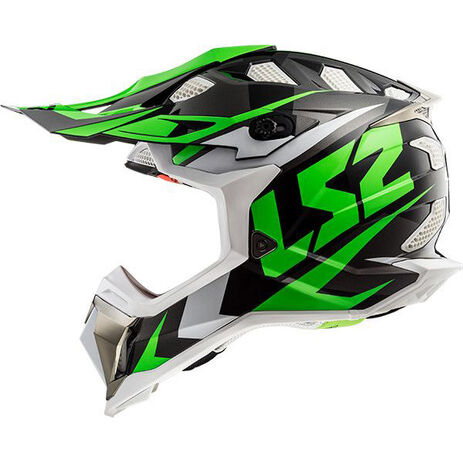 _Casco LS2 MX470 Subverter Nimble Negro/Verde | 404702060P | Greenland MX_