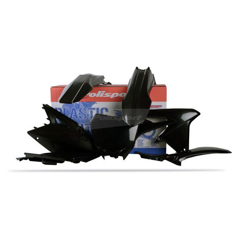 _Kit Plásticos Polisport Suzuki RMZ 450 08-17 Negro | 90146 | Greenland MX_