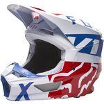 _Casco Fox V1 Skew Blanco/Rojo/Azul   27999-574   Greenland MX_