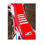 _Funda de asiento TJ Honda CRF 250 R 18-19 CRF 450 R/X 17-19 Team Usa Roja/Blanca Con Ribetes | ST17CRFBTSR | Greenland MX_
