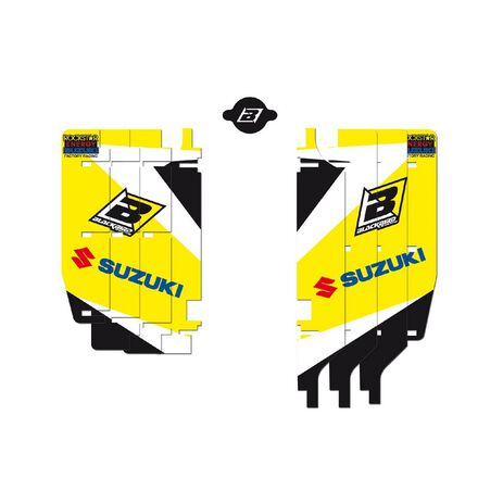 _Kit Adhesivos Rejilla Radiador Blackbird Suzuki RMZ 250 10-18 | A302E | Greenland MX_