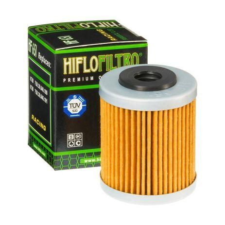 _Filtro de Aceite Hiflofiltro Husqvarna 701 EN/SM 16-19 1º KTM 690 Enduro R 12-19 1º | HF651 | Greenland MX_