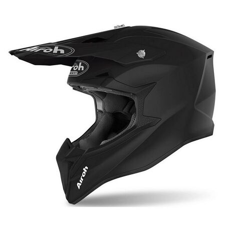 _Casco Infantil Airoh Wraap Negro Mate   WR11Y-P   Greenland MX_