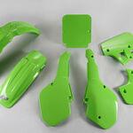 _Kit Plásticos UFO Kawasaki KX 250/500 1987 Verde | KAKIT191-026-P | Greenland MX_