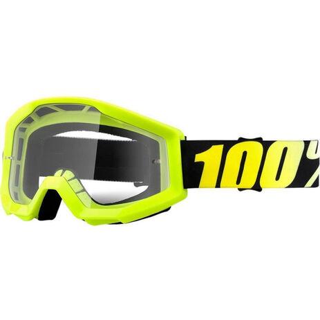 _Gafas 100% Strata Neon Amarillo Flúor | 50400-004-02 | Greenland MX_