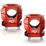 _Bridas Manillar S3 Aluminio 28 mm Rojo | HA-CL13-R | Greenland MX_