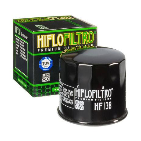 _Filtro de Aceite Hiflofiltro Suzuki KLT-A400 09-16 | HF138 | Greenland MX_