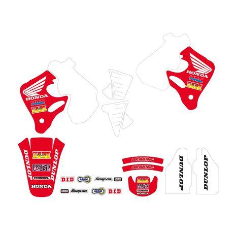_Kit Adhesivos Tecnosel Replica Team Honda 1992 CR 125 93-94 CR 250 92-94 | 21V02 | Greenland MX_