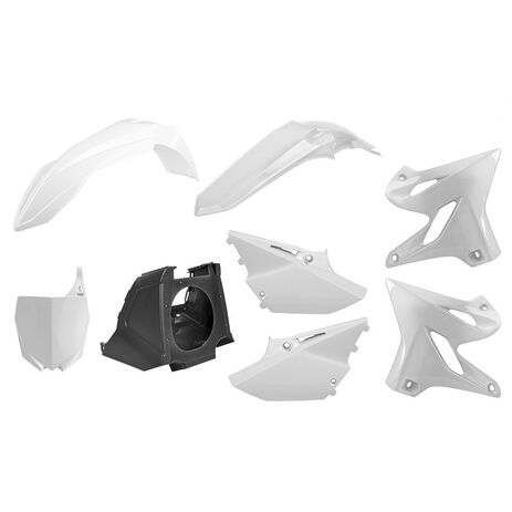 _Kit Plásticos Polisport MX Restyling Yamaha YZ 125/250 02-14 a 15-18 Blanco | 90717 | Greenland MX_