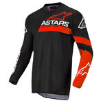 _Jersey Infantil Alpinestars Racer Chaser Negro/Rojo Flúor   3772422-1303   Greenland MX_