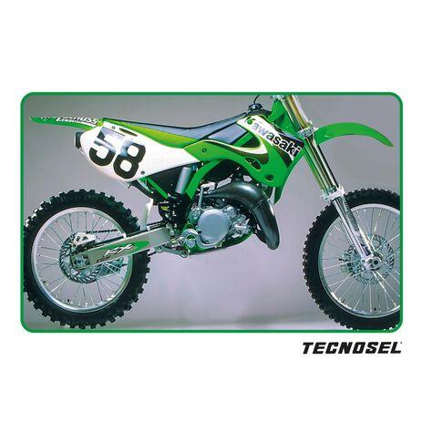 _Kit Adhesivos + Funda de Asiento Tecnosel Replica OEM Kawasaki 2000 KX 125/250 99-02 | 84V03 | Greenland MX_