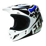 _Casco Fox V1 Race Azul/Negro | 14401-001-P | Greenland MX_