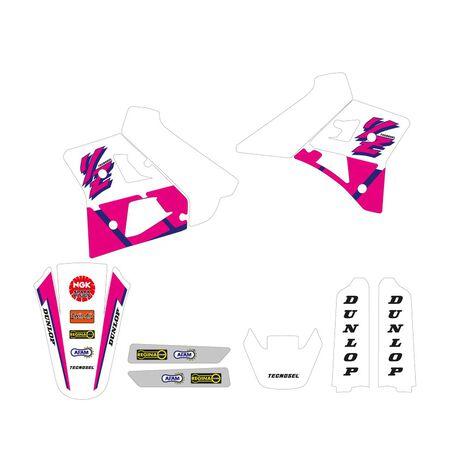 _Kit Adhesivos + Funda de Asiento Tecnosel Replica OEM Yamaha 1992 YZ 250 91-92 | 82V00 | Greenland MX_