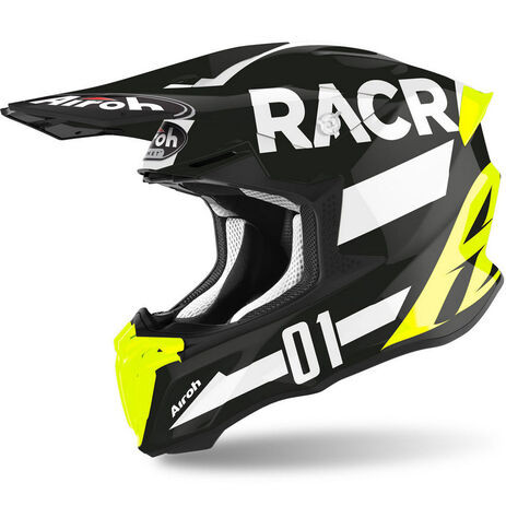 _Casco Airoh Twist 2.0 Racr Amarillo/Blanco/Negro Brillo | TW2RA17 | Greenland MX_