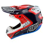 _Casco Troy Lee SE4 Carbon Flash Team Azul/Rojo | 10679300-P | Greenland MX_