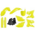 _Kit Plásticos Polisport MX Restyling Yamaha YZ 125/250 02-14 a 15-18 Amarillo Flúor | 90745 | Greenland MX_