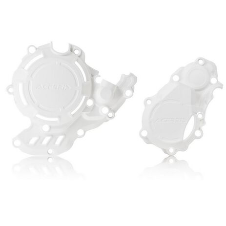 _Protector Tapa Embrague y Encendido Acerbis X-POWER Husqvarna/KTM FC/SX-F 250/350 16-21 Blanco   0023573.030-P   Greenland MX_