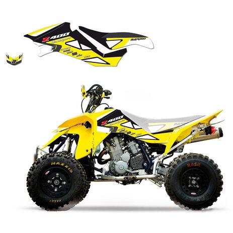 _Kit Adhesivos Blackbird Dream 2 Suzuki LTZ 400 03-10 Amarillo | 2Q04A-02 | Greenland MX_