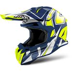 _Casco Airoh Terminator Open Vision Shock Blue Gloss 2018 M | TOVSH18M | Greenland MX_