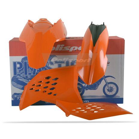 _Kit Plásticos Polisport KTM SX 07-10 EXC/EXCF 08-11 Naranja | 90182 | Greenland MX_