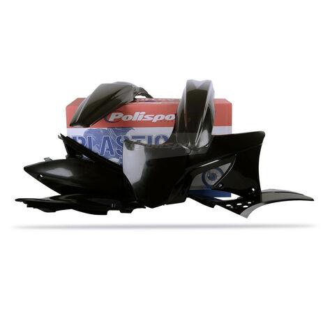 _Kit Plásticos Polisport Kawasaki KX 250 F 09-12 Negro | 90216 | Greenland MX_