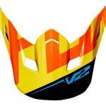 _Visera Recambio Casco Fox MX18 V2 Preme Negro/Amarillo | 21300-019-OS-P | Greenland MX_