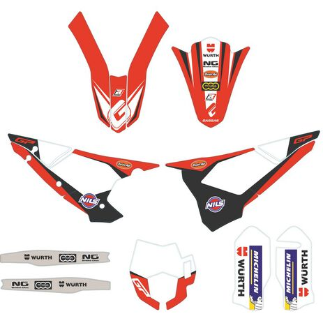 _Set Adhesivos Gas Gas EC Team Replica 2018 | BE95001CT-CLJ-1 | Greenland MX_