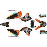 _Kit Adhesivos Completo KTM EXC/EXC-F 08-11 WESS Naranja/Negro | SK-KTEXC0811WSORBK-P | Greenland MX_