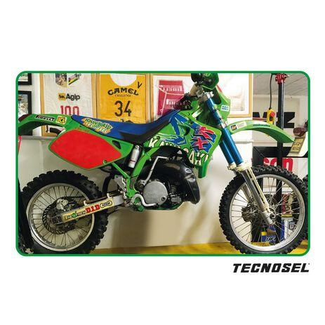 _Kit Adhesivos + Funda de Asiento Tecnosel Replica Team Kawasaki 1993 KX 125/250 92-93 | 84V00 | Greenland MX_